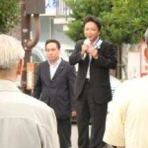 善通寺にて街頭演説