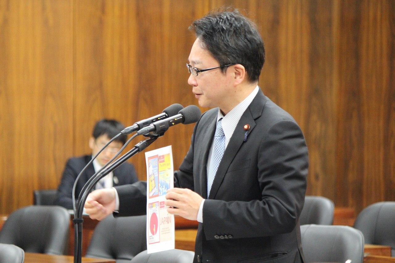 予算委員会分科会質疑の様子